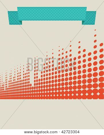 Musical Retro Background With Equalizer Lines