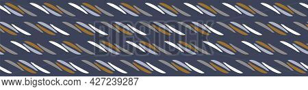 Masculine Broken Stripe Seamless Border Pattern. Classic Retro Line Design For Digital Masking Tape