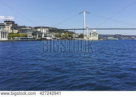 Panorama From Bosporus To City Of Istanbul, Turkey