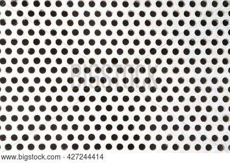 Pattern Of Aluminum Grating Close Up Texture Background