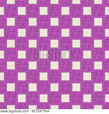 Braid From Leaves, Braid Abstraction. Seamless Pattern. For Backgrounds And Textures. Illustration.