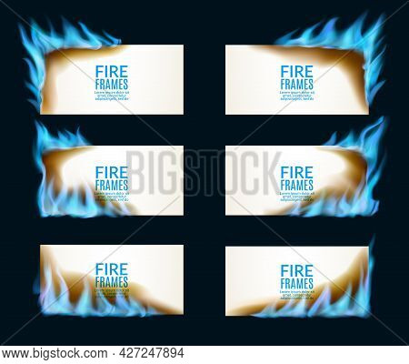 Burning Paper Banners With Natural Gas Flames. Sale Hot Offer Promotion, Heating Solution Or Forge A