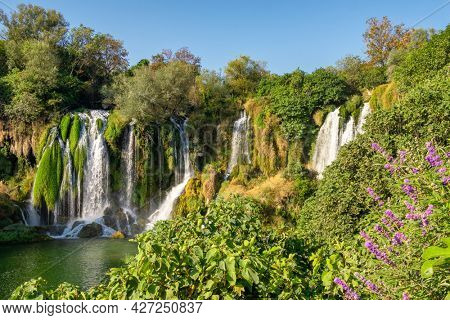 Kravica waterfall on Trebizat river in Bosnia and Herzegovina