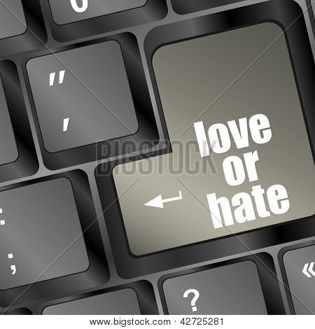 Love Or Hate Relationships Communication Impressions Ratings Reviews Computer Keyboard Key
