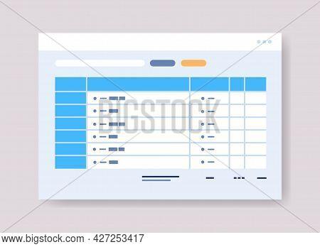 Planning Schedule Online Planner Organizer Calendar With Tasks Information Board Organization Time M