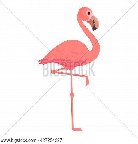Flamingo Bird Icon Cartoon Vector. Cute Pink Bird. Summer Flamingo