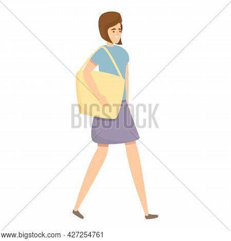 Mother Shopping Icon Cartoon Vector. Housewife Mom. Household Woman