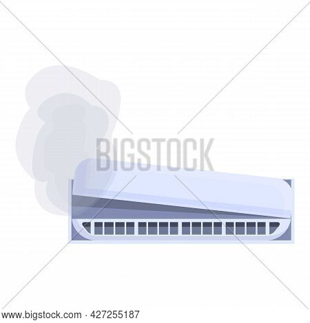 Maintenance Air Conditioner Icon Cartoon Vector. Home Repair Service. Cooling System