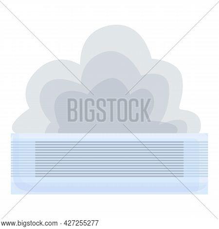 Smoking Air Conditioner Icon Cartoon Vector. Repair Maintenance. Air Conditioner Service