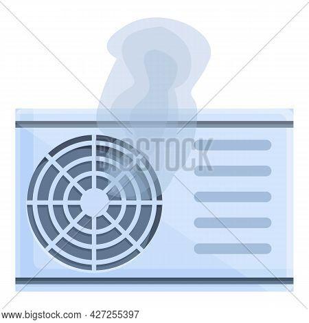Room Air Conditioner Broken Icon Cartoon Vector. Home Repair. House Technician