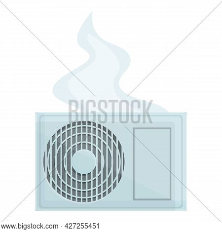 Change Air Conditioner Icon Cartoon Vector. Maintenance Service. Home Cooling