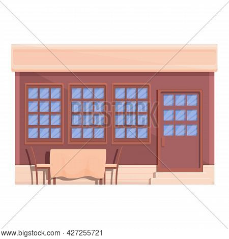 Street Cafe Place Icon Cartoon Vector. Coffee Store. Street Cafe Business