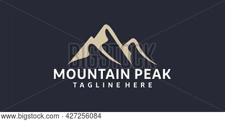 Vintage Hipster Retro Mountain Adventure Logo Design Inspiration. Logo Can Be Used For Icon, Brand,