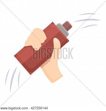 Hair Spray Icon Cartoon Vector. Bottle Aerosol. Clean Hairspray
