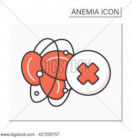 Blood Hemophilia Color Icon. Inherited Bleeding Disorder. Disease Symptoms. Health Protection. Anemi