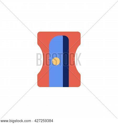 Pencil Sharpener Flat Icon, Vector Sign, Colorful Pictogram Isolated On White. Symbol, Logo Illustra