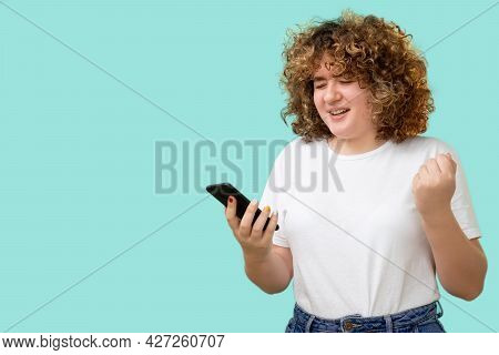 Online Bullying. Fat Shaming. Overweight Problem. Mobile Technology. Sad Frustrated Obese Young Woma