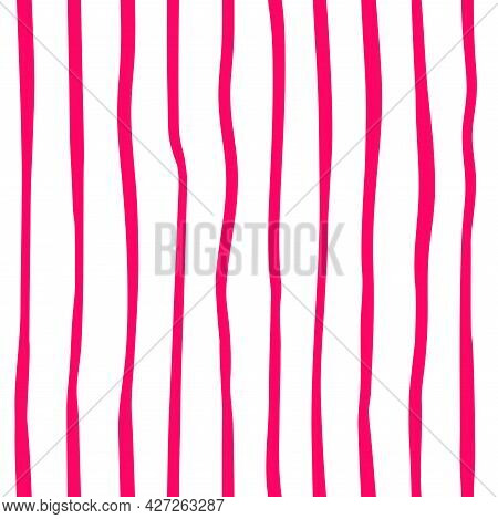 Simple Seamless Pattern With Vertical Stripes. Geometric Background. Decor For Packaging And Fabrics