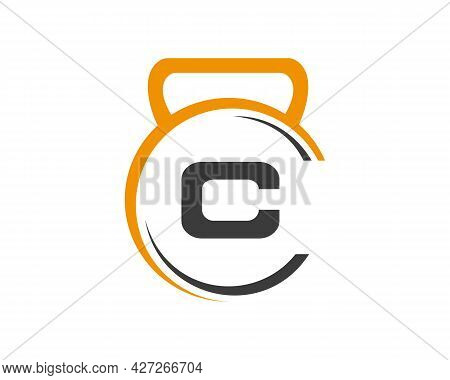 Gym Logo With C Letter. Fitness Logo With C Letter Concept.