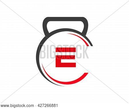 Fitness Logo With E Letter Concept. Gym Logo With E Letter.
