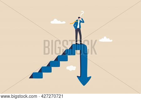 Stock Market Decline In Crisis Or Bubble Burst, Investment Or Economic Recession, Career Dead End Or