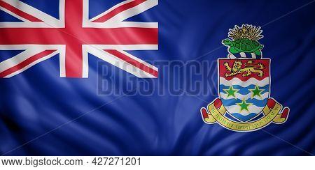 3d Rendering Of Cayman Islands Flag Waving