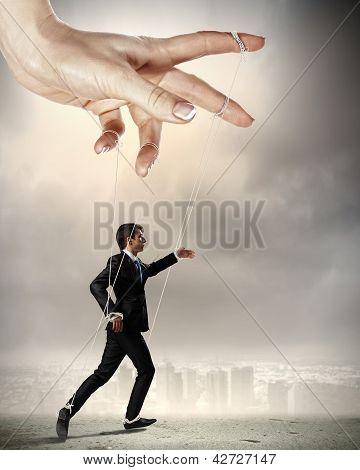 Business man marionette