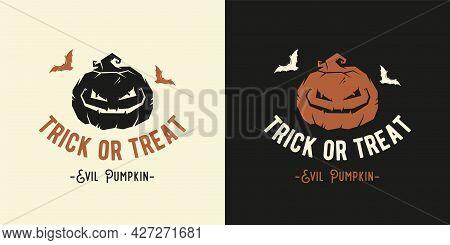 Halloween Evil Pumpkin For Fear Halloween Print
