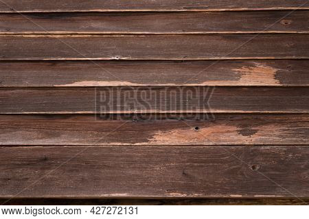 Old Brown Wooden Wall Background Texture. Old Painted Wood Wall