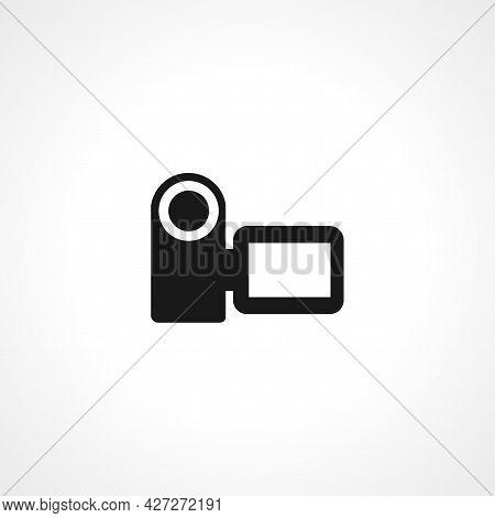 Video Camera Icon. Video Camera Isolated Simple Vector Icon.