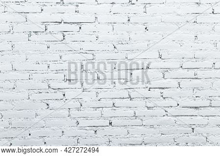 White Brick Wall Background Rusty Texture Detail
