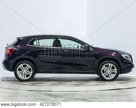 Novosibirsk, Russia - July 07, 2021:   Mercedes-benz Gla-class, Side View. Popular Car On A Parking