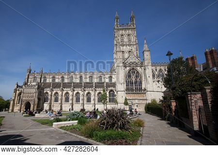 Views Of Gloucester Cathedral In Gloucester In The United Kingdom, Taken On The 24th April 2021