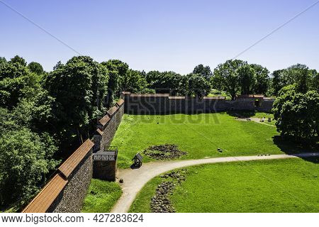 Defensive Wall Of Medieval Castle Medininkai, Lithuania