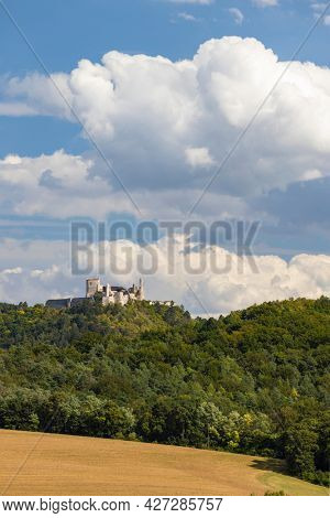Ruins of Cachtice castle, residence of Elisabeth Bathory, Slovakia