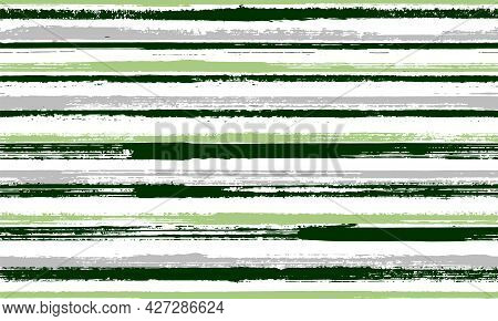 Watercolor Freehand Irregular Stripes Vector Seamless Pattern. Simple Gift Wrapping Paper Design.