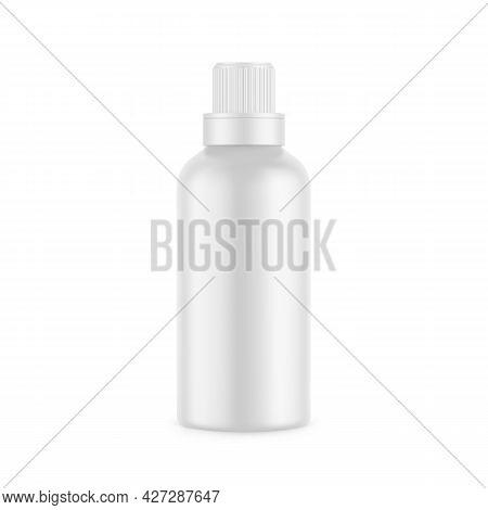 White Matte Plastic Bottle For Conditioner, Shampoo, Detergent, Oil, Medicine, Cosmetic Bottle. Fron