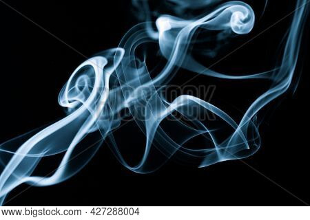 Abstraction created with smoke on a black background.