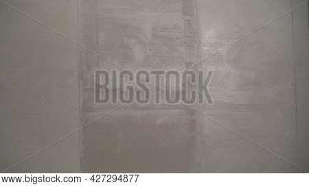 Plastered Wall Background. The Wall Is Plastered.