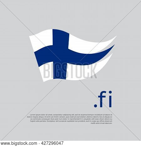 Finland Flag. Stripes Colors Of The Finnish Flag On A White Background. Vector Design National Poste