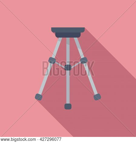 Tripod Stand Icon Flat Vector. Camera Mobile Stand. Photo Phone Tripod
