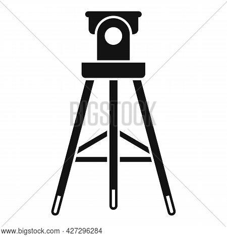 Video Tripod Icon Simple Vector. Photo Camera Stand. Studio Tripod