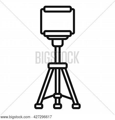 Smartphone Tripod Icon Outline Vector. Mobile Camera Stand. Phone Tripod