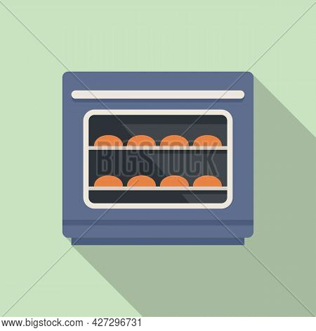 Baking Convection Oven Icon Flat Vector. Cooking Electric Stove. Gas Convection Oven