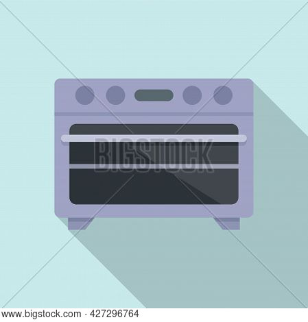 Kitchen Convection Oven Icon Flat Vector. Electric Grill Stove. Gas Convection Oven