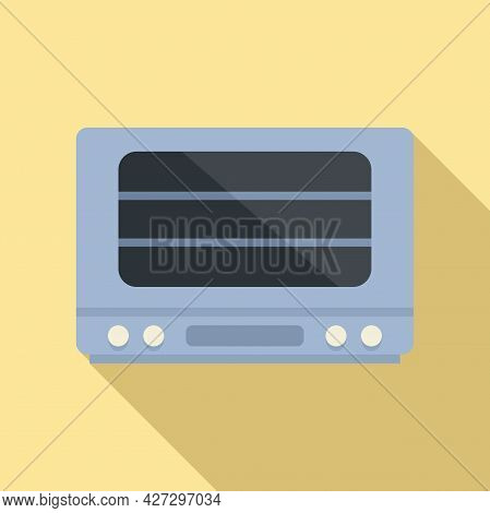 Cooker Oven Icon Flat Vector. Electric Convection Stove. Grill Oven