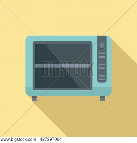 Convection Oven Timer Icon Flat Vector. Cook Stove. Electric Kitchen Oven