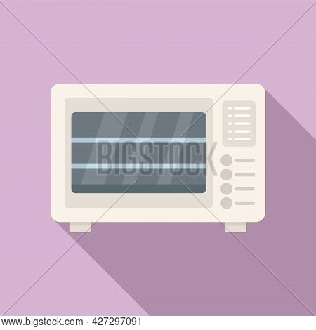 Baking Oven Icon Flat Vector. Kitchen Stove. Gas Grill Cooker