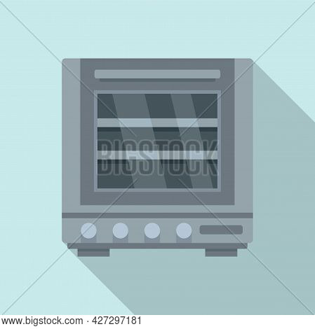 Fire Oven Icon Flat Vector. Convection Grill Stove. Electric Kitchen Oven