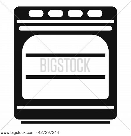 Convection Oven Icon Simple Vector. Electric Kitchen Stove. Grill Convection Oven